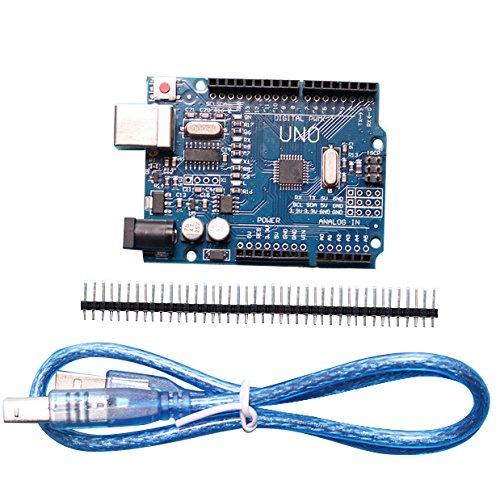 Giveme5 Hight Quality Compatible UNO R3 Development Board for Arduino, -