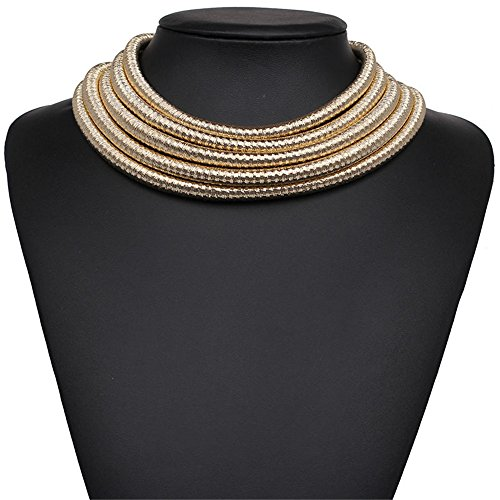 FANCY LOVE Newes Double Rope Maxi Colar Choker Necklace or Bracelet with Maganetic Lock (Gold necklace) by FANCY LOVE BOUTIQUE (Image #4)