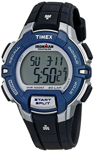 Timex Ironman Women's | Rugged 30 Mid-Size Black/Blue Watch T5K810 by Timex