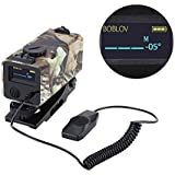 700m Mini Rifle Scope Mounted Range Finder Tactical Outdoor Hunting Shooting Rangefinder Archery Crossbow Sight Target Speed Measurer with Rail Mount Lightweight