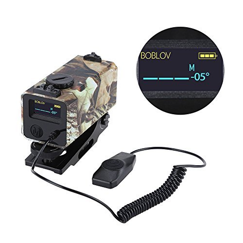 BOBLOV 700m Mini Rifle Scope Mounted Range Finder Tactical Outdoor Hunting Shooting Rangefinder Archery Crossbow Sight Target Speed Measurer with Rail Mount Lightweight (Camouflage)