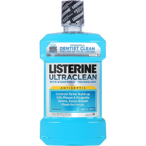 Listerine Ultraclean Oral Care Antiseptic Mouthwash with Everfresh Technology to Help Fight Bad Breath,...
