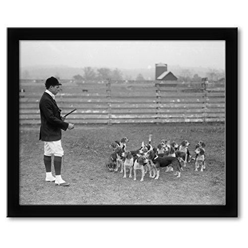 Mens Club Enlargement - ClassicPix Framed Print 16x20: Raymond Belmont, National Beagle Club Of America, 1914