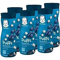 6-Pack Gerber Graduates Puffs, Blueberry, 1.48 oz