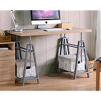 Merveilleux American Furniture Classics 22222 Adjustable Height Desk OS Home And Office  Writing Sturdy Metal Base,