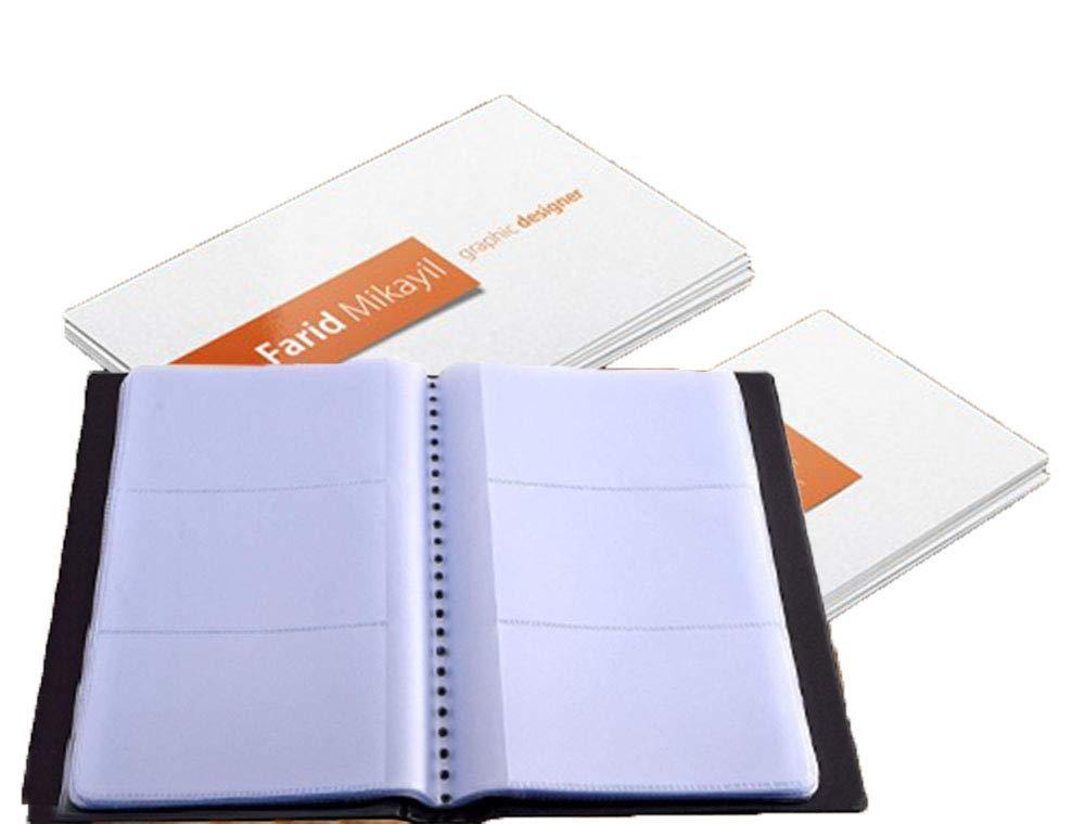 Mosie Porta biglietti da visita Nome Carta Organizzatore Libro titolare PU Design universale 300 Biglietti da visita Nero Durevole