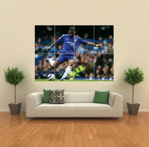 Didier Drogba Chelsea Football Giant Wall Art Print Picture Poster