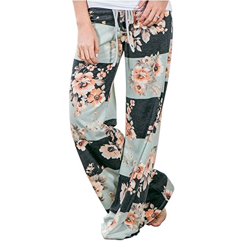 Alta Palestra Hippie Boho Donna Harem Pigiama Jogging Pantaloni Trousers Hip Color Wide Larghi Pantalone Chic Jumpsuit Lungo 20 Pants Leg Baggy Tuta Danza Floreale Yoga Estivo Vita per Sportivi Hop Stampa ZgZwtq6