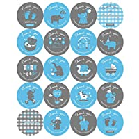 2 inch Elephant Theme Baby Shower Thank You Stickers, Baby Shower Favor Labels -100 Count