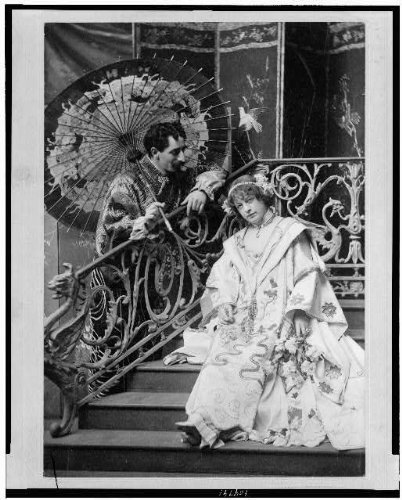 Kids Costumes Adelaide (Photo: Leon,Adelaide Herrmann,performances,magicians,costumes,umbrella,stairs,1896)