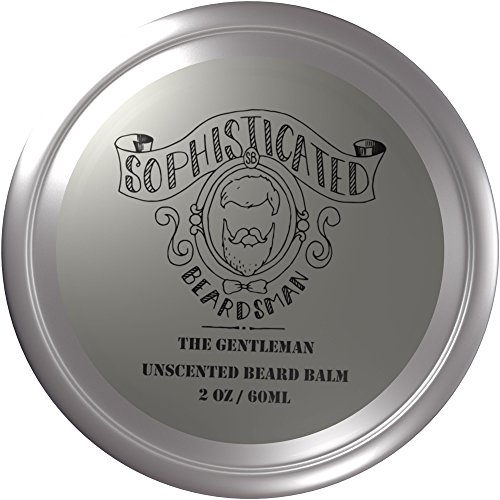 Sophisticated Beardsman Unscented Beard Balm/Cream Conditions Softens and Tames your Facial Hair (Unscented)