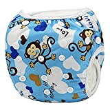Baby Swim Diapers, One Size Reuseable Washable Adjustable Short Waterproof Trunks Unisex Swimming Cover for (7-34lbs) Babies & Toddlers Infant 0-36 Months Boys & Girls