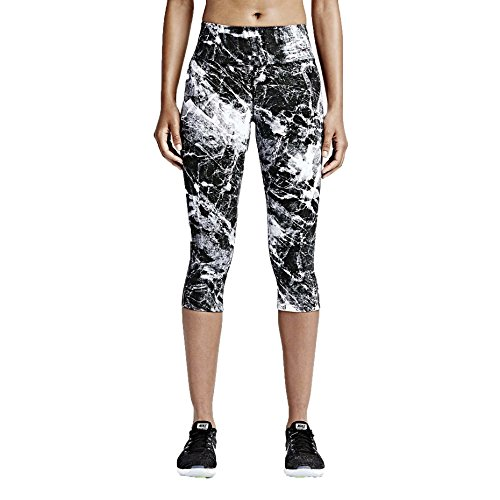Nike Women's Dri-Fit Legendary Engineered Training Tight Capris-Black Marble-XS