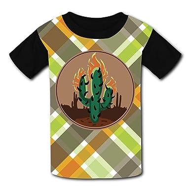 d5b31547ba Amazon.com: BEDDAN Youth Unisex Kids Short Sleeve Cactus Hunting T-Shirts  Tees for Children Boys Girls: Clothing