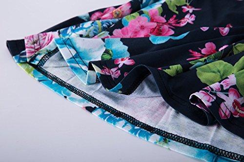 Casual Sleeveless Mt roswear Blue Dress Summer Tunic Women's Racerback Maxi FppES4wq