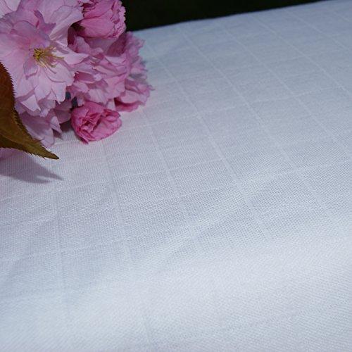 Bamboo Muslin Fabric (Gauze, Swaddle) Certified Organic, by The (Dye Cotton Gauze)