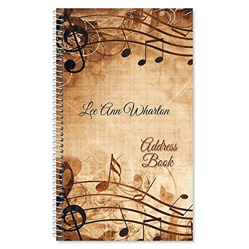 Sheet Music Personalized Lifetime Address Book by Current