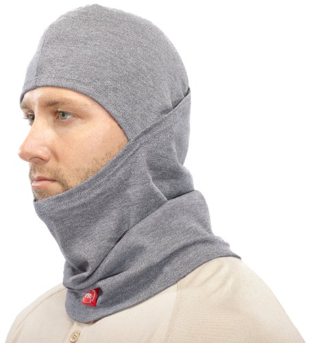 Benchmark Flame Resistant Balaclava, Soft Rib Knit, Inherent Blend, One Size, 9 Cal, HRC 2, Gray (Fire Resistant Balaclava)