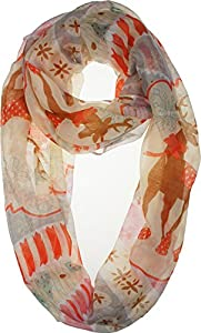 Vivian & Vincent Soft Light Elegant Merry Christmas Sheer Infinity Scarf