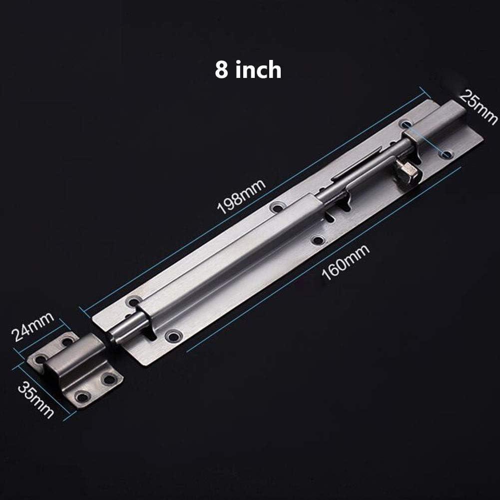 Bedroom Toilet Shed For Bathroom Door Lock Bolt (with Screws)Easy Fit MUMA Door Catch Latch Slide Bolt Size : 8 inch Shower
