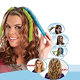 QrBxa 16 DIY Manual Hair Curler Magic Spiral Ringlets Stretched Circle Roller