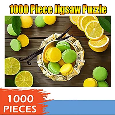 Voberry Puzzles for Adults 1000 Piece, Jigsaw Puzzles for Adults - Micro-Sized Puzzles, Wooden Adults Children Puzzles-Lemon-Art DIY Leisure Game Fun Toy Gift Suitable Family Friends (Multicolor): Toys & Games