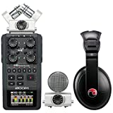 Zoom H6 Six-Track Portable Recorder w/ Resident Audio R100 Headphones - Bundle