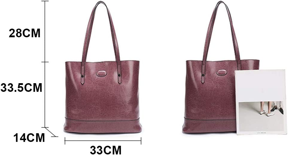 JKLGNN Bolsos De Hombro De Gran Capacidad para Mujer Bolso De Mano Shopper De Cuero Genuino para Mujer Viaje De Trabajo Casual,C D fnBKdf3R