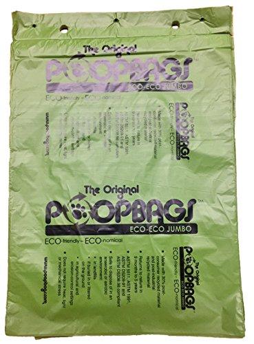 PoopBags Jumbo Poop Bags (4000 Pack), Green, X-Large by PoopBags