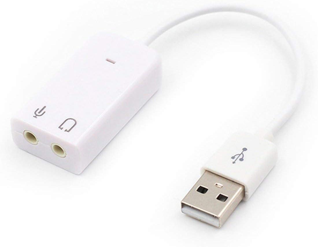 Celerhuak Carte son USB externe Adaptateur de carte son audio 3D virtuel 7.1 canaux audio Plug /& Play pour PC Ordinateur de bureau Ordinateur portable