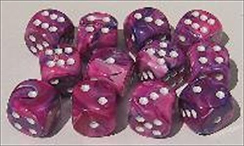 Chessex Manufacturing 27257 D10 Clamshell Set Of 10 Dice - Festive Violet With White Numbering by Chessex
