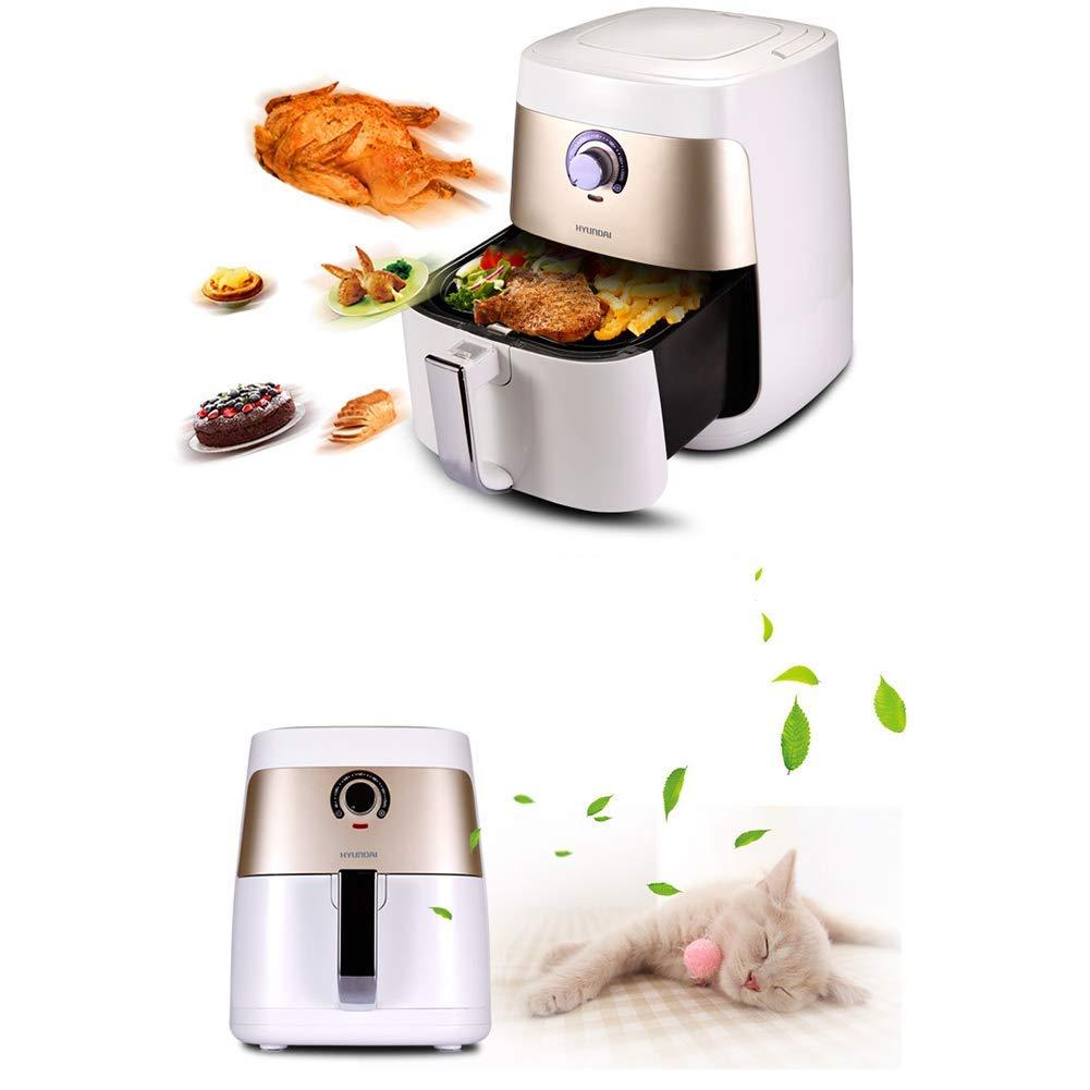 MISJIA Freidora de Aire Libre de Aceite de Gran Capacidad de la casa de Pollo asado ala Patatas Fritas máquina 2QT para 4-5 Personas/Blanco: Amazon.es