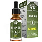 #10: Premium Hemp Oil Drops (500MG) :: Packed with Vitamins and Omega 3 Fatty Acids:: Peppermint Flavored:: Natural Ingredients :: One Month Supply :: Nature Driven