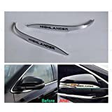 2pcs Car Chrome Rearview Side Mirror Cover Trim Strip For Toyota Highlander 2015-2016 2017 2018