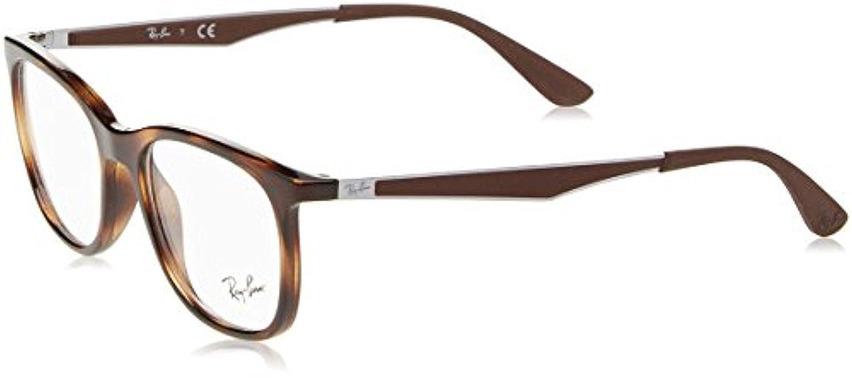 RB Mens RX7078 Eyeglasses Shiny Havana 53mm /& Cleaning Kit Bundle
