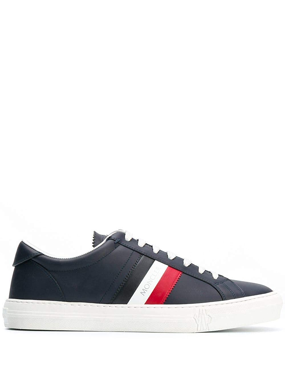 - Moncler Men's 103760001A9A778 bluee Leather Sneakers