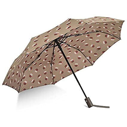 HAN-NMC Paraguas Paraguas Paraguas automático,Brown: Amazon ...