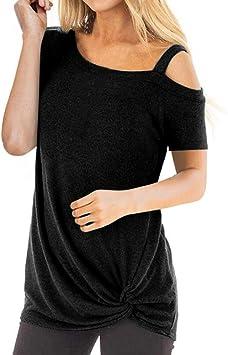 Ronamick Camisetas Ajustadas Mujer Cortas Manga Blusa Pirata Mujer Tops Cortos Mujer Casual Camisa para Mujer (Negro,M): Amazon.es: Hogar