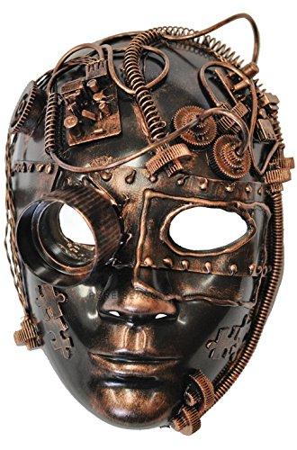 [Mememall Fashion Steampunk Inventor Mardi Gras Masquerade Mask (Bronze)] (Dog Costumes For Mardi Gras)