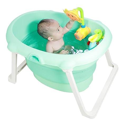 Bañera Plegable para bebés Barril de baño portátil ...