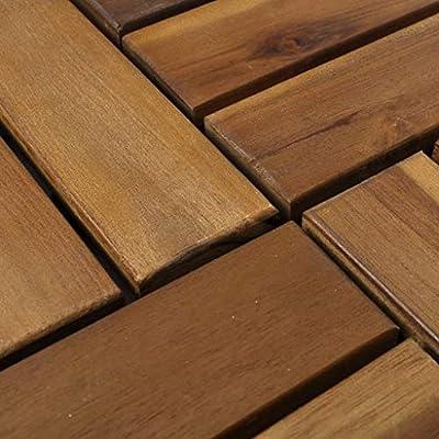 vidaXL Set Baldosas Decoración de Suelo Madera Acacia Jardín Terraza Balcón Habitación: Amazon.es: Bricolaje y herramientas
