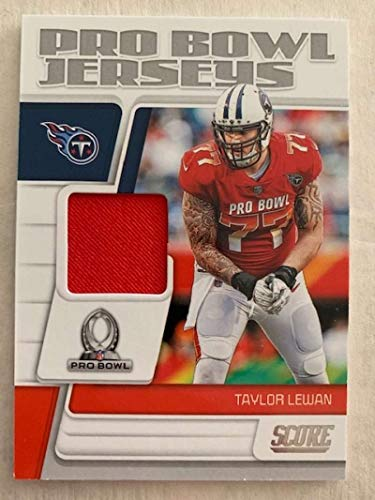2019 Score Pro Bowl Jersey Football #25 Taylor Lewan Jersey/Relic Tennessee Titans Official NFL Trading Card From Panini ()