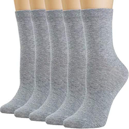 Womens Socks Women Sock Black Crew Cotton Long High Ankle Tall Socks for Women White Navy Blue Socks Trouser Socks Stockings ()