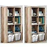 Better Homes and Gardens Furniture 8-Cube Room Organizer Beige, Set of 2 + Cleaning Cloth
