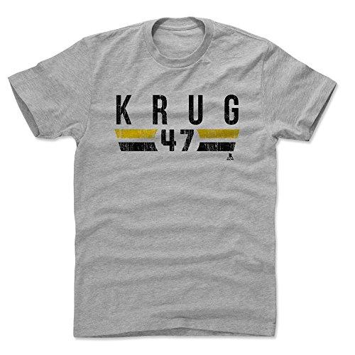 - 500 LEVEL Torey Krug Cotton Shirt Small Heather Gray - Boston Bruins Men's Apparel - Torey Krug Boston Font K