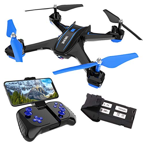 REMOKING RC Drone with 720P FPV Wi-Fi HD Camera Live Video Racing Quadcopter Headless Mode 360°flip 4 Channels Altitude…