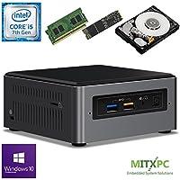 Intel BOXNUC7i5BNH Core i5-7260U NUC Mini PC w/ 32GB DDR4, 512GB NVMe M.2 SSD, 1 TB 2.5 HDD, Windows 10 Pro - Configured and Assembled by MITXPC