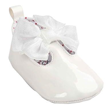 Fossen Zapatos Bebe Niña Primeros Pasos de Antideslizante Suela Blanda Princesa Zapatos del Bebé Bautizo: Amazon.es: Ropa y accesorios