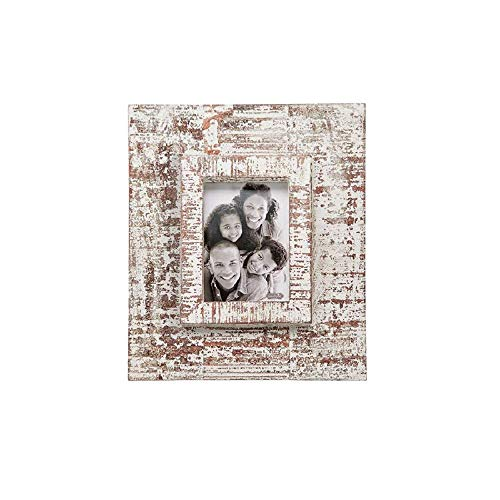 Mud Pie Wash Layered Wood Frame, White, Medium