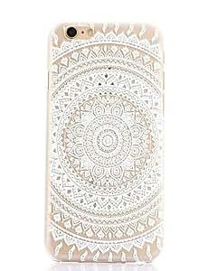 YULIN caso trasero duro del patrón de flores blanca para el iphone 6